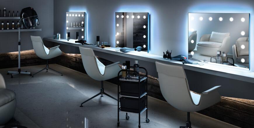 cantoni spiegel mit integrierter led beleuchtung. Black Bedroom Furniture Sets. Home Design Ideas
