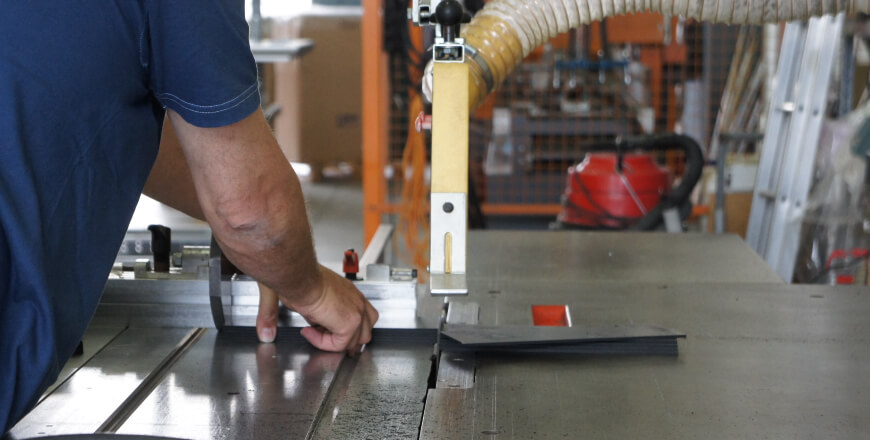 Hochpräzise Schnitte für die Aluminiumprofile