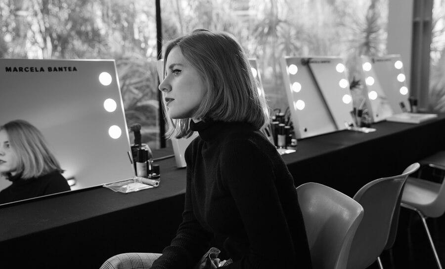 Faltbare Licht Make-up Spiegel für Schönheit Klassen