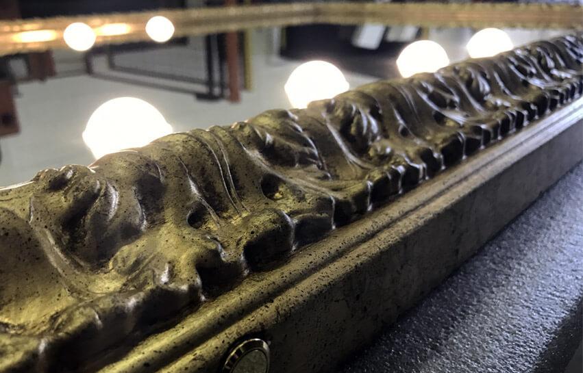 Die Lichttechnologie I-light in den hochwertigen Spiegeln von Unica